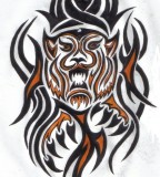 Tribal Tiger Tattoos Sample