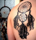 Black Splendid Dream Catcher Tattoo Inspiration Ideas
