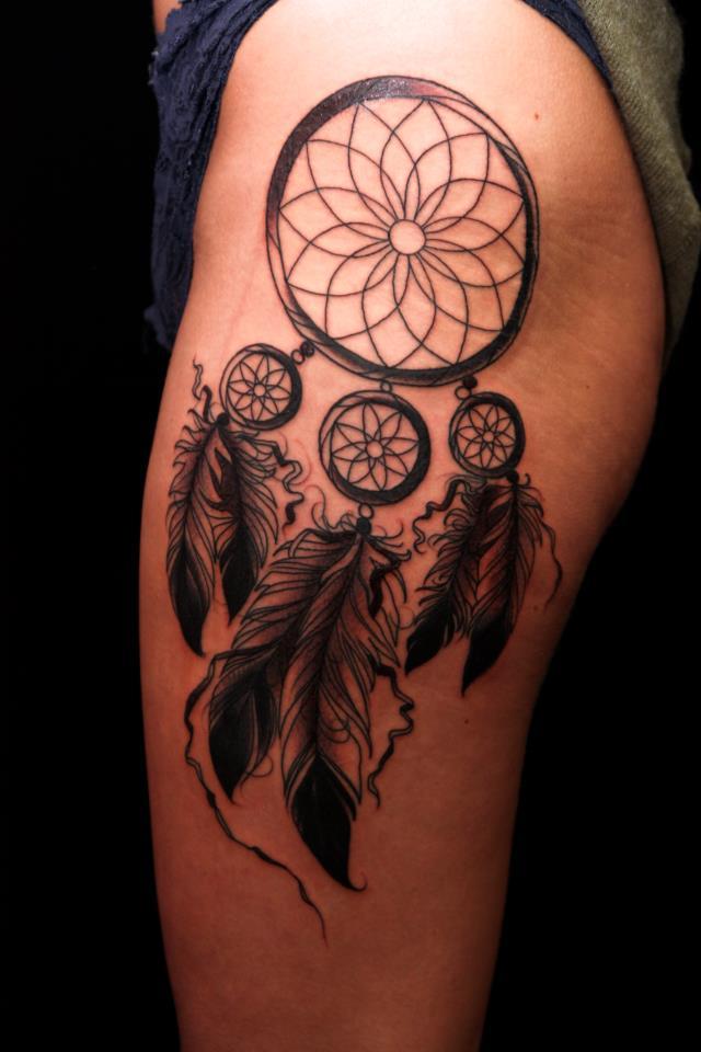Glamorous Excellent Dream Catcher Tattoo