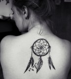 Amazing Dream Catcher Upper Back Tattoo Design