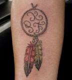Cute Dreamcatcher Tattoo For Girls
