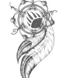 Dreamcatcher Tattoo Design Ideas and Sketch
