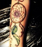 Chick  Dreamcatcher Tattoo on Hands for Girls