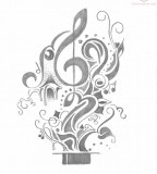 Music Tattoos Design Sketch