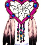 Dreamcatcher And Eagle Feathers Tattoo Design by Denise