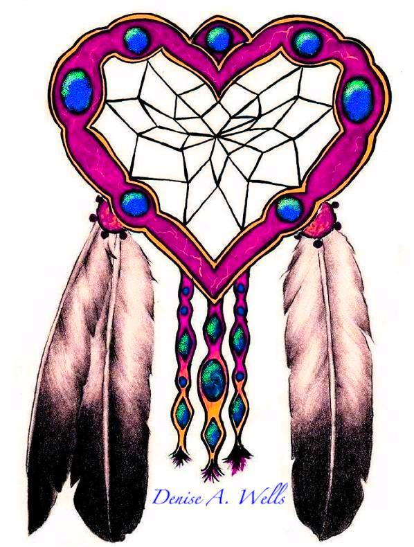 dreamcatcher and eagle feathers tattoo design by denise. Black Bedroom Furniture Sets. Home Design Ideas