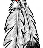 Eagle Feathers Temporary Tattoos Designs