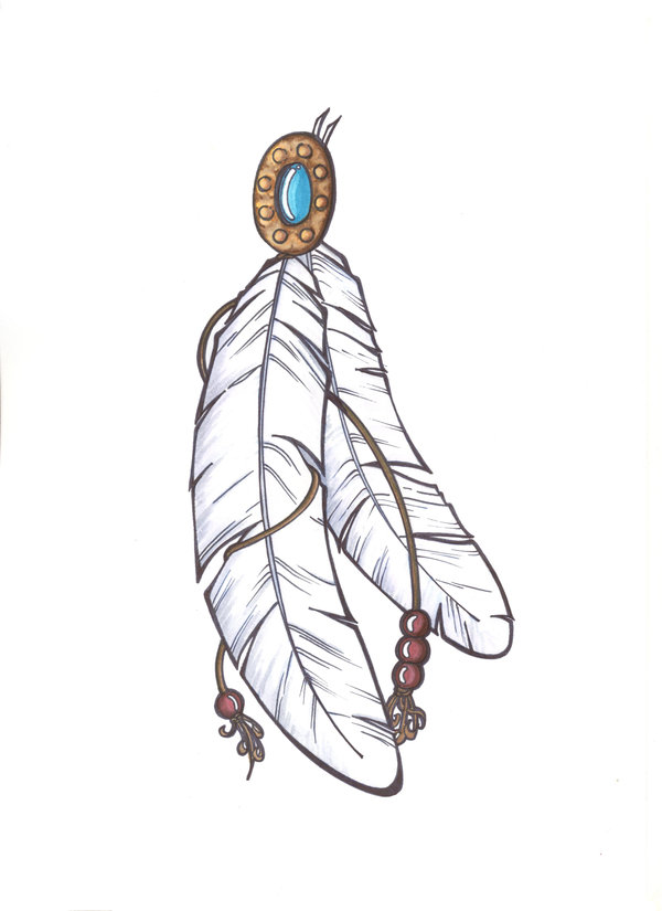 fb5d07ec3 Indian Feather Tattoo Design Sketches and Ideas -   TattooMagz ...