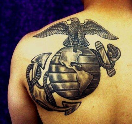 da weis marine corps eagle globe and anchor emblem tattoo tattoomagz. Black Bedroom Furniture Sets. Home Design Ideas