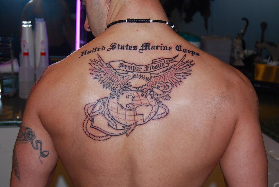 Usmc Tattoo Chest Tattoo Designs  Ink-Works