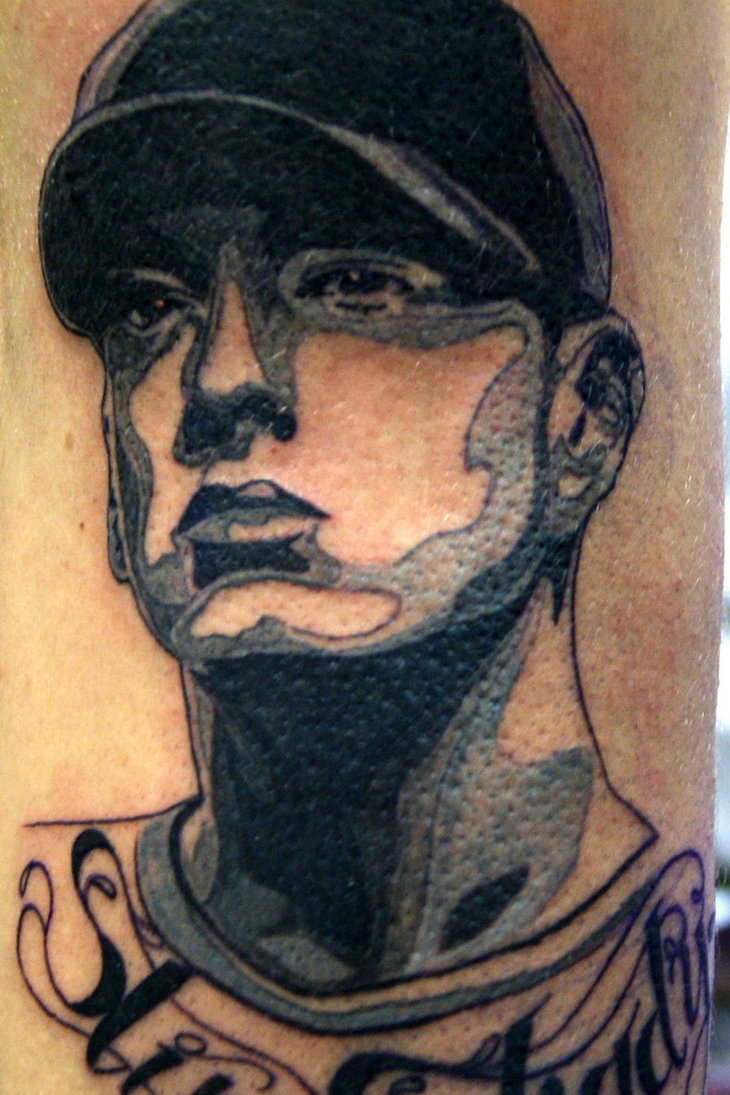 Kenyon Martin Lips Tattoo Eminem-inspired tattoo by