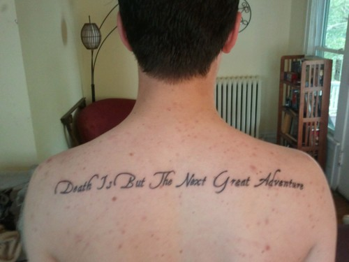 Cool Harry Potter Movie Quote Saying Death Is But The Next Great
