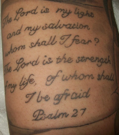 famous bible verse psalms 27 bible phrase tattoo designs tattoomagz
