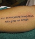Tattoo Wise Phrases from Bible
