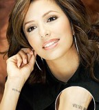 Eva Longoria's Wrist Tattoo Design for Women - Celebrity Tattoos