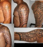 Filipino Tribal Tattoo for Left Men Sholuder
