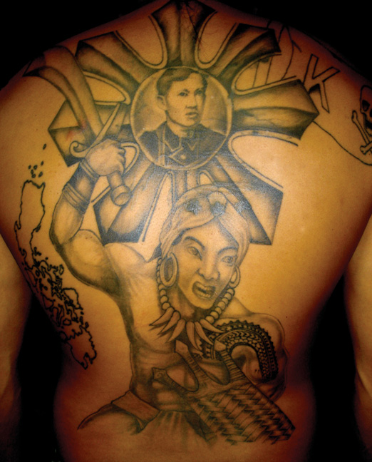 Great Filipino Tribal Tattoo Design For Men