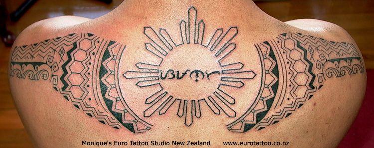tribal sun philippine tattoo baybayin backpiece tattoomagz. Black Bedroom Furniture Sets. Home Design Ideas