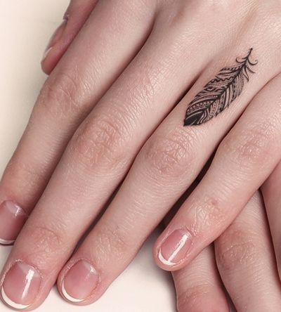 finger feather