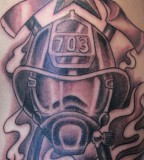 Mask Firefighter Tattoos Design Pictures