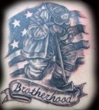 Amazing Design Firefighter Tattoo Brotherhood