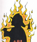 Drawing Colorfull Firefighter Tattoo Pictures