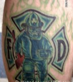 Simple Design Firefighter Tattoo Design Pictures