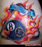 Billiard Balls On Firefighter Tattoos