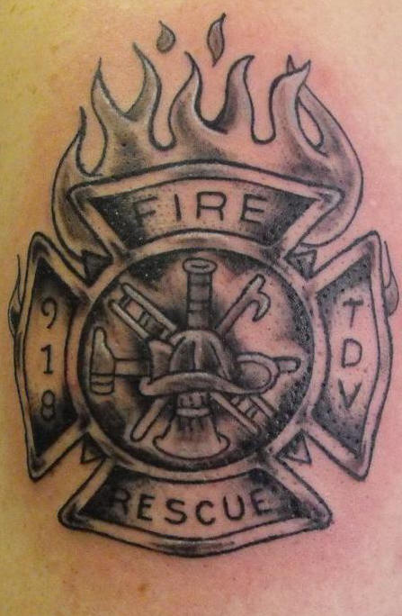 charming firefighter tattoos pictures and images. Black Bedroom Furniture Sets. Home Design Ideas