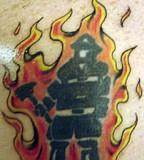 Amazing Firefighter Tattoo Irish Pictures