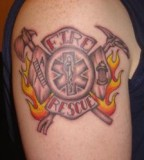 Firefighter Tattoo Maltese Cross Pictures