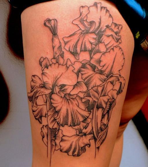 Flower Back Tattoo Ideas: Lotus Flower Tattoos Designs On Lower Back