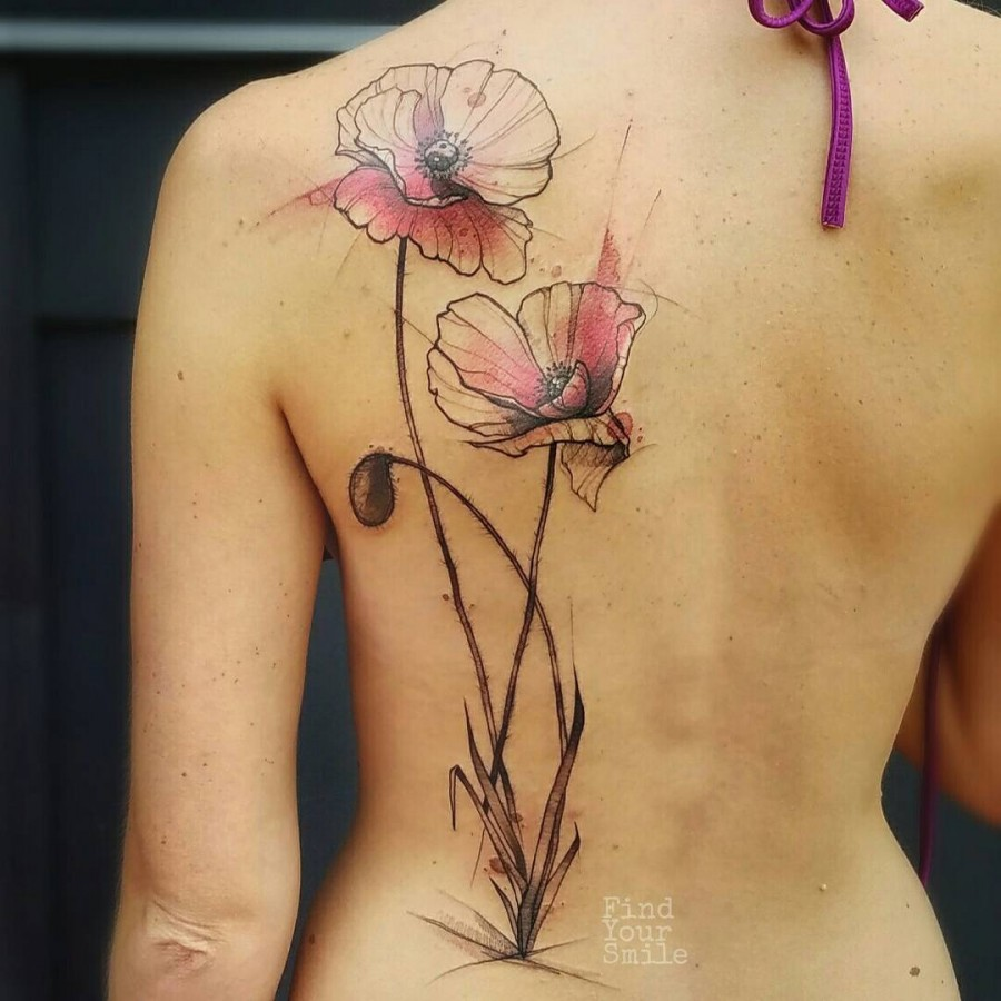 flower-watercolor-tattoo