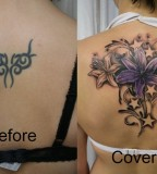 Cover Up Flowers Stars Color By 2face Tattoo