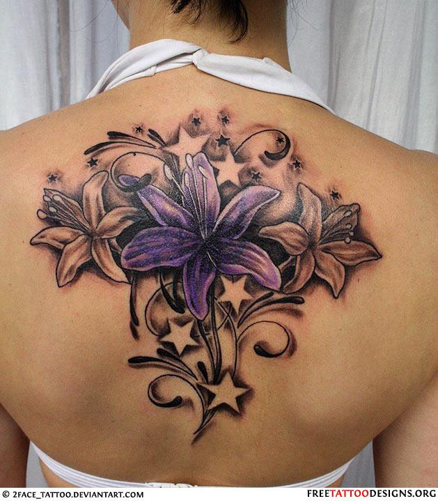 Female Flower Tattoo Designs: Female Beautiful Flower Tattoo Picture