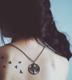 Splendid Inspiration Of Flying Bird Silhouette Tattoo