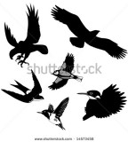 Unique Illustration Of The Flying Bird Silhouette Tattoo