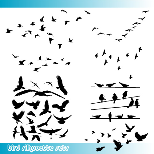 Glamorous Birds Silhouette Tattoo Vector Graphic Tattoomagz