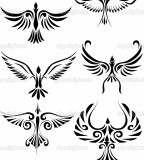 Fabulous Bird Tribal Tattoo Design Inspiration