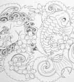 Foo Dog And Koi Tattoo Sketch