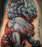 3D Foo Dog Tattoo Design