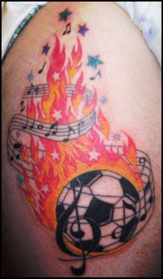 Football Tattoos Designs Men Football Tattoo Designs For