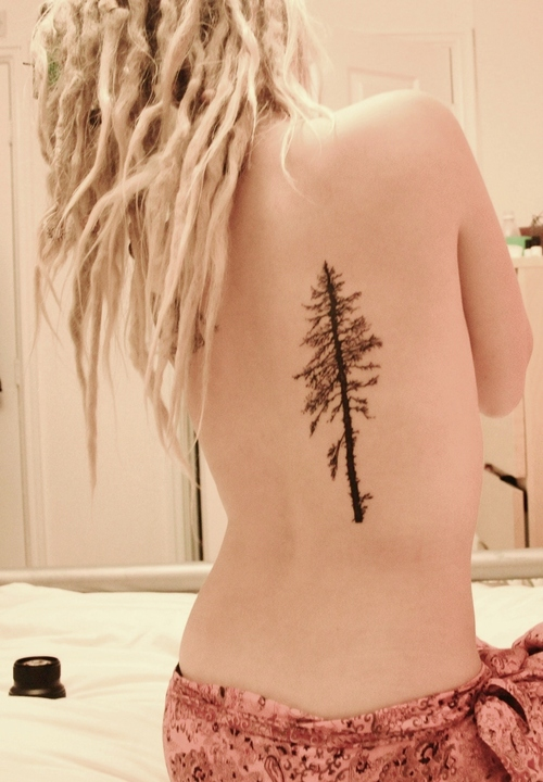 Back Tattoo Girls Tumblr Girl's Back Tree Tattoo