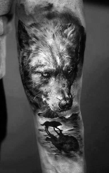 forearm-wolf-tattoos