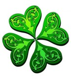 Four Leaf Clover Design for Tattoo