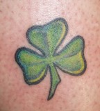 Four Leaf Clover Tattoo Close-Up Photo