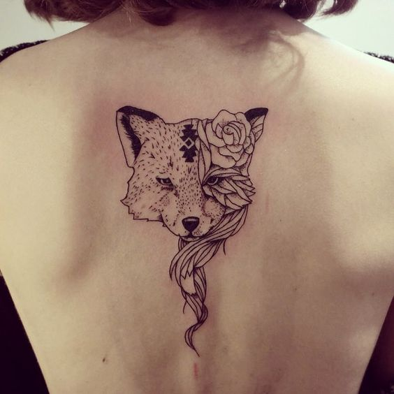 fox-on-back-autumn-tattoo