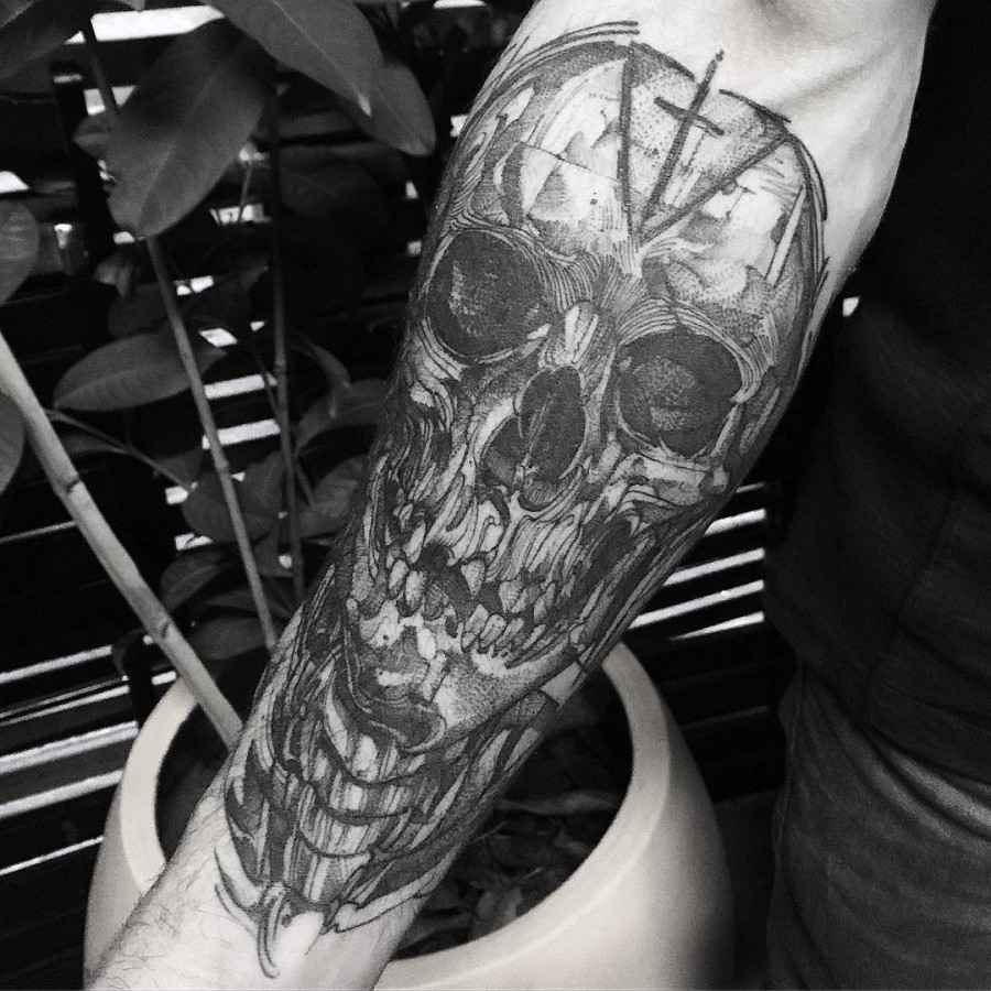 f89c15530 Literally The Best 65 Skull Tattoos In History - Page 6 of 7 ...