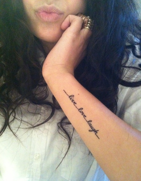 Tattoos Sayings Quotes And Other Word Like Things Live Love