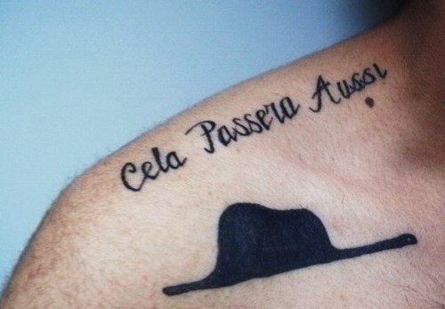 Cela passera tattoo design tattoomagz for French quote tattoos